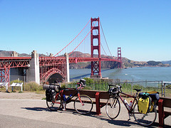 Getting ready to bike the Golden Gate bridge