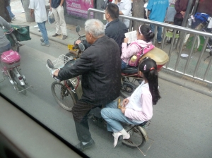 """""""Typical scene: grandparents taking kids home from school and careing for them; you don't see many obese people in Beijing."""" - Rob Cannon"""