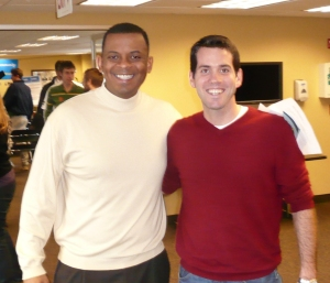 Mayor Foxx and Jon at CABA Annual Meeting in January